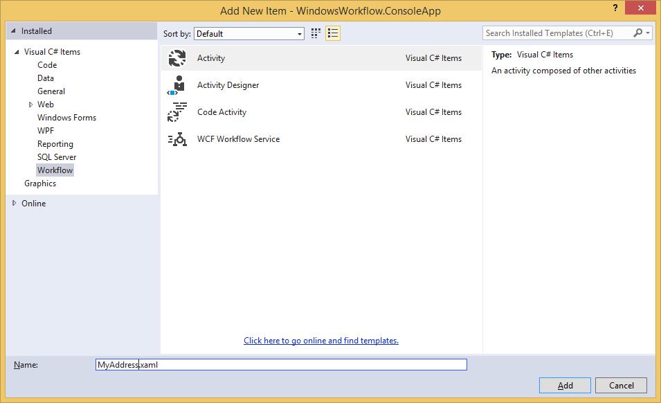 Simple tutorial to create Xaml Workflow in Visual studio 2013 – Rokhri