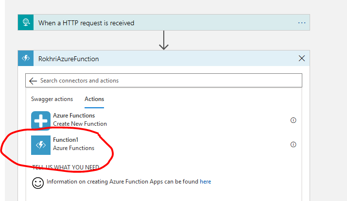 Deploy Azure function from Visual Studio and connect to